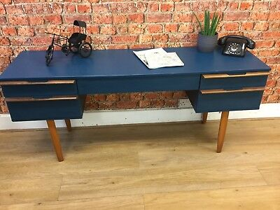 Retro Avalon Dressing Table / Desk. Upcycled In midnight Blue