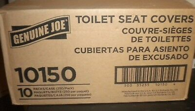 NEW GENUINE JOE (10)PK 250CT Case Toilet Seat Covers 10150