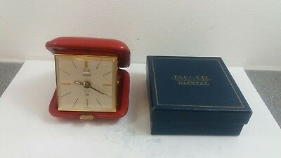 1950-60s JAEGER RECITAL 8 DAY ALARM TRAVEL CLOCK EXCELLENT CONDITION.