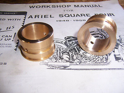 Ariel Square Four, SQ4, KH 500 Main Bearing bush Leadbronze made to your size