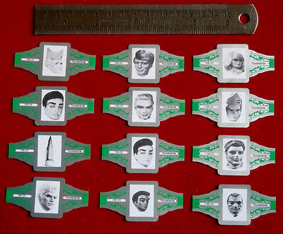 Vintage THUNDERBIRDS: FULL SET of 12 Confectionery CIGAR bands