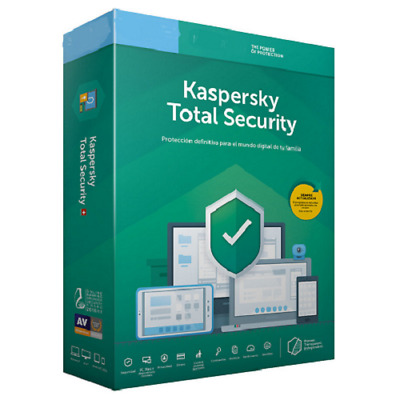 Kaspersky Total Security 2019 1,2,3,4,5,10 dispositivos Windows/MAC/Android