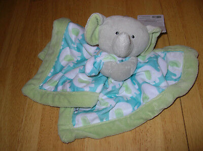 Carters Security Blanket Baby Boys Monkey Owl Elephant Whale Lovey Green NWT NEW