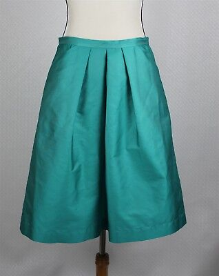 ac7db2c7b New Les Copains Women's Skirt 42 US 10 Turquoise Green Pleated A-Line Italy