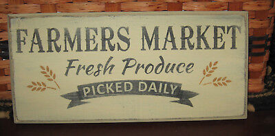 "Primitive Country Farmer's Market ~Fresh Produce ~Picked Daily 12""  Sign"