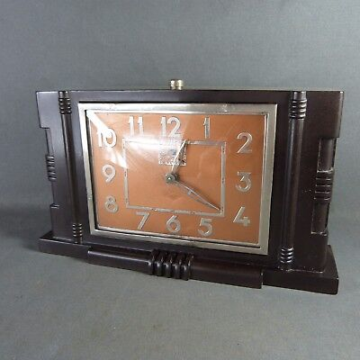 French Original Art Deco Bakelite Alarm Clock from JAPY Made in France c.1940