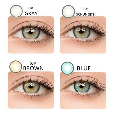 Natural Plain Soft Glass Contact Lenses Cosmetic Makeup Lens Color 1 Year Fresh