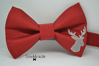 Mens bow tie - Christmas bow tie - Reindeer - Handmade - Christmas outfit