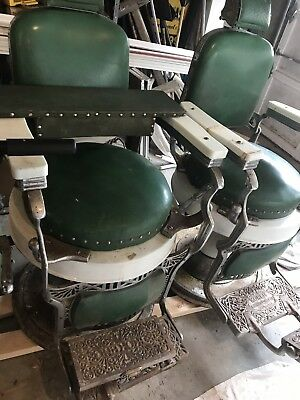 2x koken barber chairs Antique With Child Seat