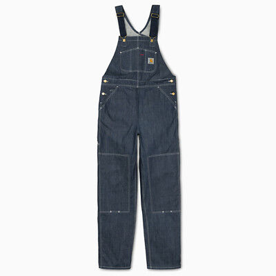 CARHARTT WIP BIB OVERALL, CANYON, BLUE RINSED, W30in L32in