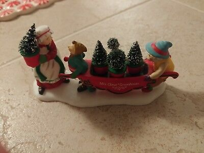 Mrs Clause Greenhouse Accesory Dept 56