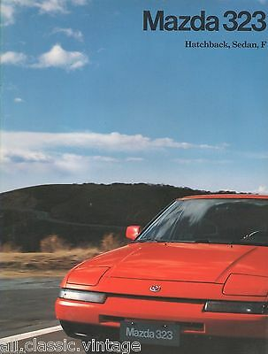 MAZDA - 323 full brochure/folder Dutch 1991