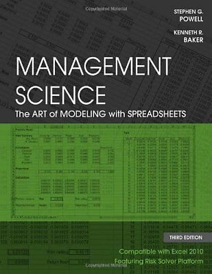 [PDF] Management Science The Art of Modeling with Spreadsheets 3rd Edition by Po