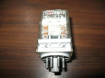 Finder Type 60.12 Cube Relay  (8 Pin Round, 12 VDC Coil)