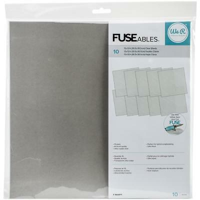 """We R Memory Keepers - FUSEables Fuse clear Sheets 12x12"""" - pack of 10 Fuse Sheet"""