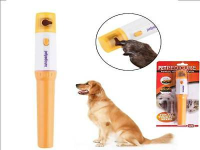 Electric Pet Pedicure Dog Cat Nail Grooming Grinder Trimmer Tool