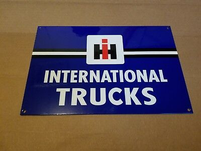 International Trucks Thick Metal Sign Made in USA gas oil Tractor Farm IH Pickup