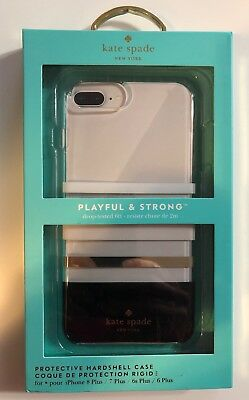 Brand New Kate Spade NY Case iPhone 6/6s/7/8 Plus Charlotte Stripe Black Clear