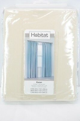"Common Wealth Home Fashions Kazan Cotton Curtain Panel, 50 x 84"" Cream T3"