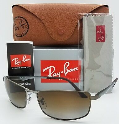 223635e0d2 NEW Rayban sunglasses RB3498 029 T5 64mm Brown Gradient Polarized 3498  AUTHENTIC