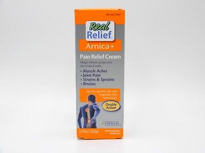 2 Pack Real Relief Arnica+ Pain Relief Cream 1.76oz 778159120541CT