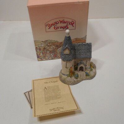 David Winter Cottages THE CHAPEL 1984 COA Original Box & Packing
