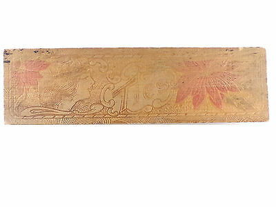 Antique Pyrography Wood Tie Box Victorian Woman and Flowers Wooden Box Burned