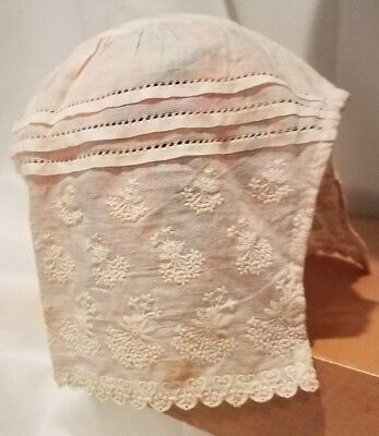 Antique 1900's Baby Bonnet with Embroidery