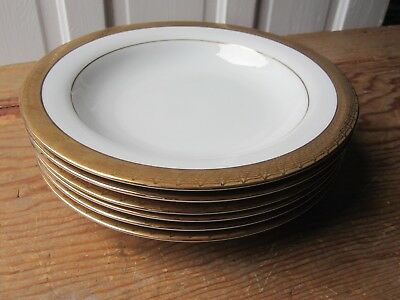 Six Centurion Collection Pure Gold 9414 Soup Bowls