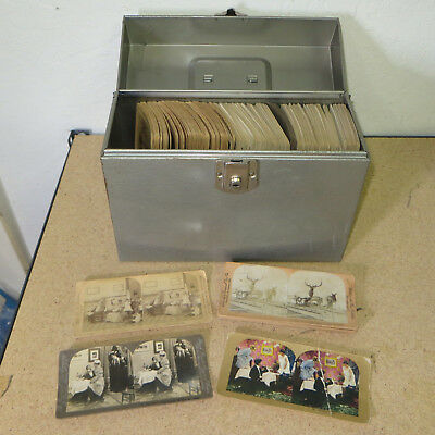 3D Stereoscope Vintage Antique Late 1800's-Early 1900's Photo Cards = 254pc LOT!