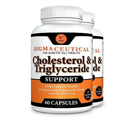 2 Pack of Cholesterol Lowering Supplement - Lower Triglycerides - Natural Ste...