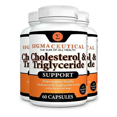 3 Pack of Cholesterol Lowering Supplement - Lower Triglycerides - Natural Ste...
