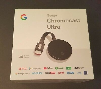 NIB Google Chromecast Ultra 4K Media Streaming Player HDMI WiFi Netflix YouTube