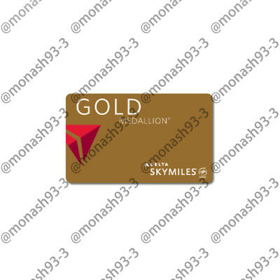 INSTANT UPGRADE Delta Airlines GOLD Membership Skyteam Elite Plus to 01/20
