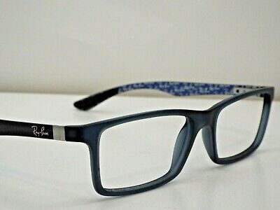aafc1072846 Authentic Ray-Ban RB 8903 5262 Blue Black Carbon Fibre Eyeglasses Frame  300