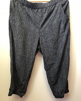 New Style & Co Women's XL Black White Relaxed Fit Poly Blend Joggers Capri $49