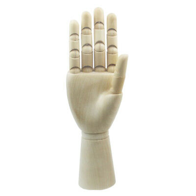 18cm Jointed Wood Hand Mannequin Right Hand Jewelry Stand Watch Rack Display