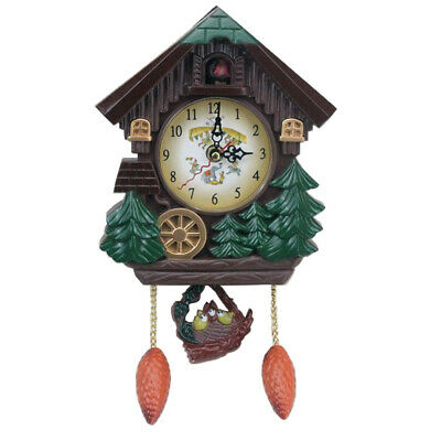 Vintage Cuckoo Clock Forest Quartz Swing Wall Alarm Clock