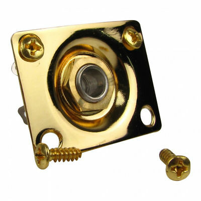 Gold Rectangle Input Output Jack Plate for Electric Guitar Telecaster Ibanez
