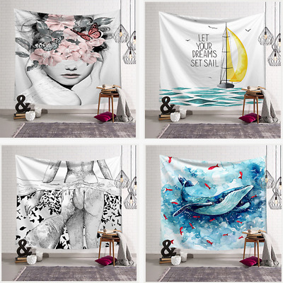 Abstract Tapestry Throw Paint Beach Towel Wall Hanging Bedspread Blanket Decor