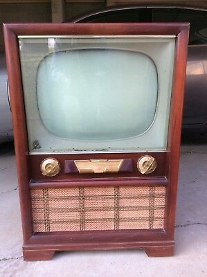 Vintage 1950 televisions, Arvin black and white TV, antique tv, old console tv,