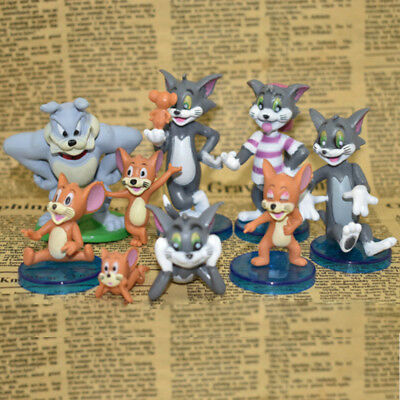 Tom and Jerry Cat And Mouse 9 PCS Action Figure Cake Topper Kids Gift Doll Toys