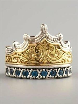 New Honorable Queen Crown Ring Women Wedding Engagement band Ring 925 Silver