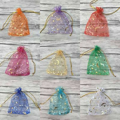 100Pcs Organza Wedding Party Favor Gift Bags Candy Sheer Bag Jewelry Pouches