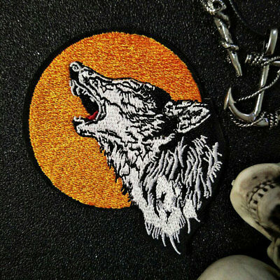 Embroidered Applique Iron wolf Patch design DIY Sew Iron On Patch lable Badge