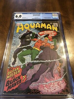 Aquaman 35 CGC 6.0 First Black Manta White Pages