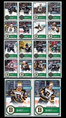 18-19 WINTER CLASSIC POST GAME COMPLETE SET OF 18 Topps NHL Skate Digital Card