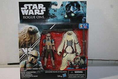 Star Wars Scarif Stormtrooper & Moroff  3.75 action figure Rogue One