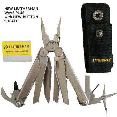 New Leatherman Wave Plus+ 2018 model with Sheath Stainless steel Multi tool