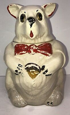 Vintage McCoy Bear Cookie Jar 1940's Rare Bear